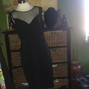 🖤Black dress with Sheer shoulders🖤